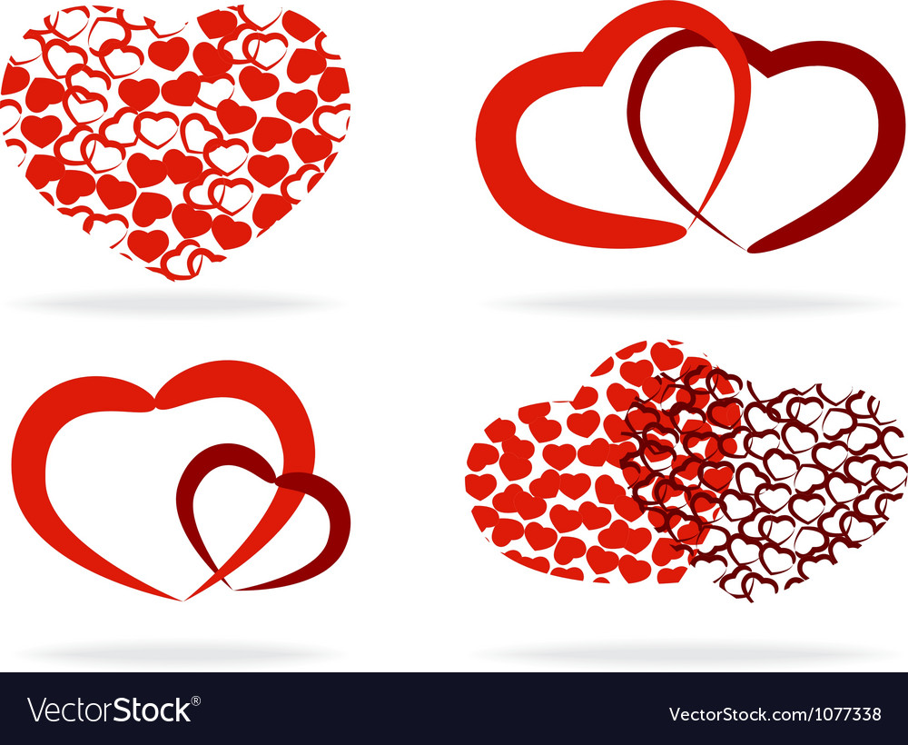 Set of stylized hearts vector | Price: 1 Credit (USD $1)