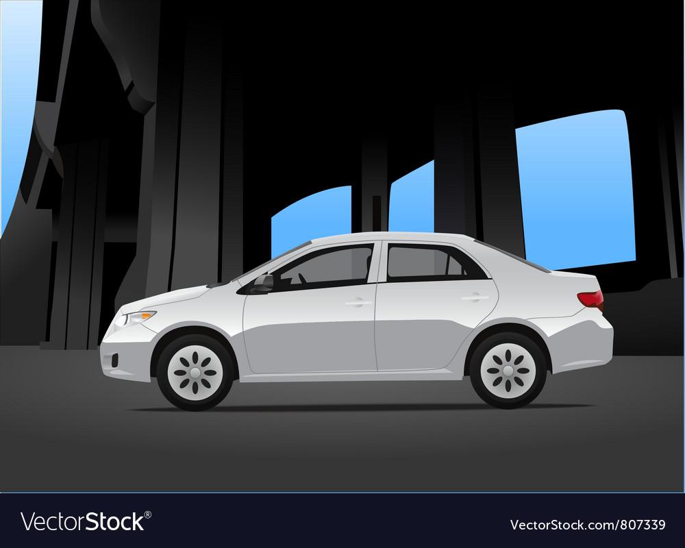 City car vector | Price: 1 Credit (USD $1)