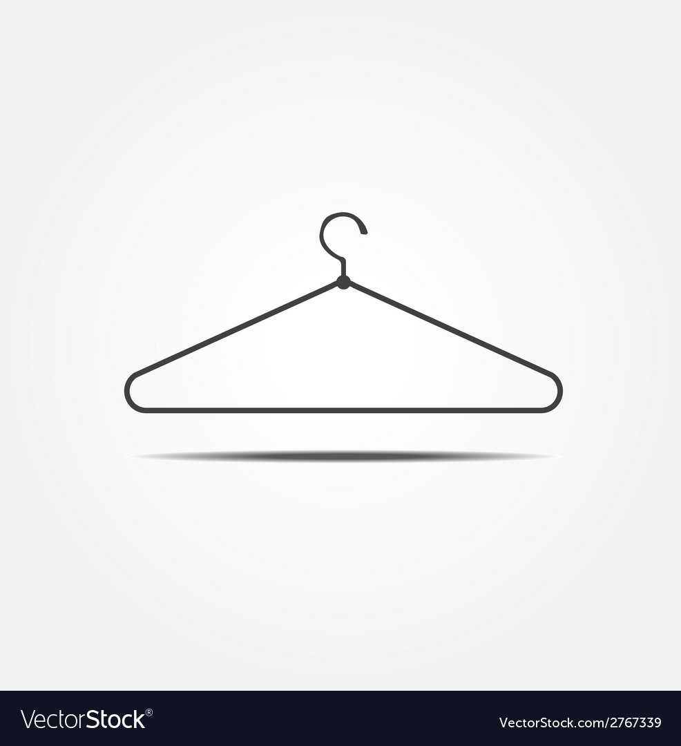 Clothes hanger icon vector | Price: 1 Credit (USD $1)