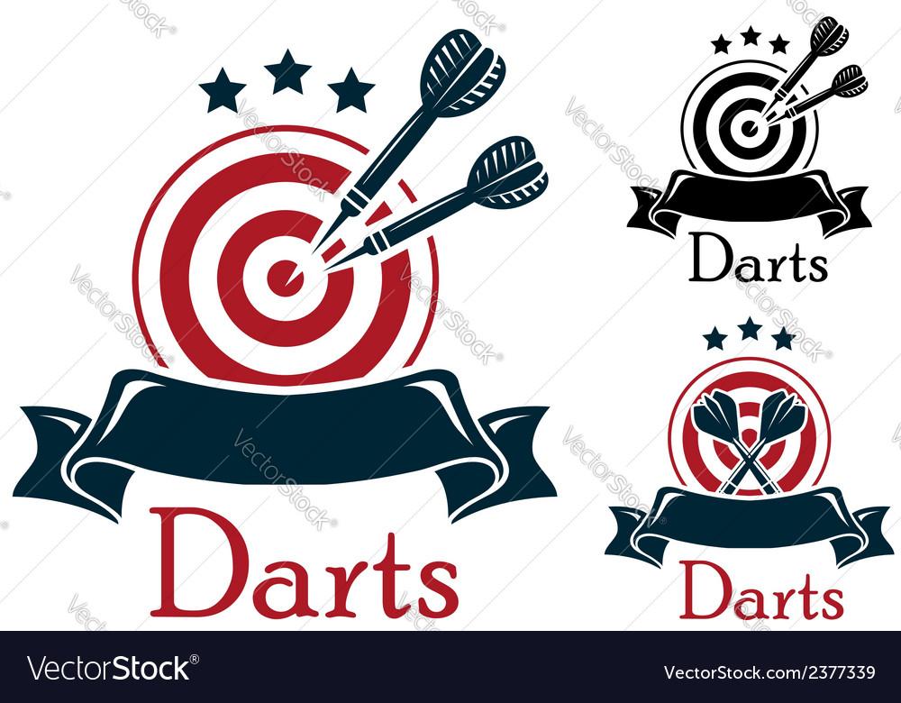 Darts sport emblem vector | Price: 1 Credit (USD $1)