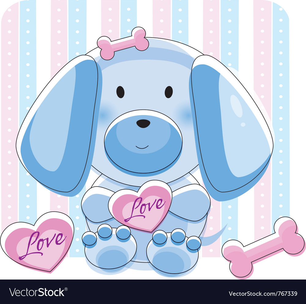 Doggy love vector | Price: 1 Credit (USD $1)