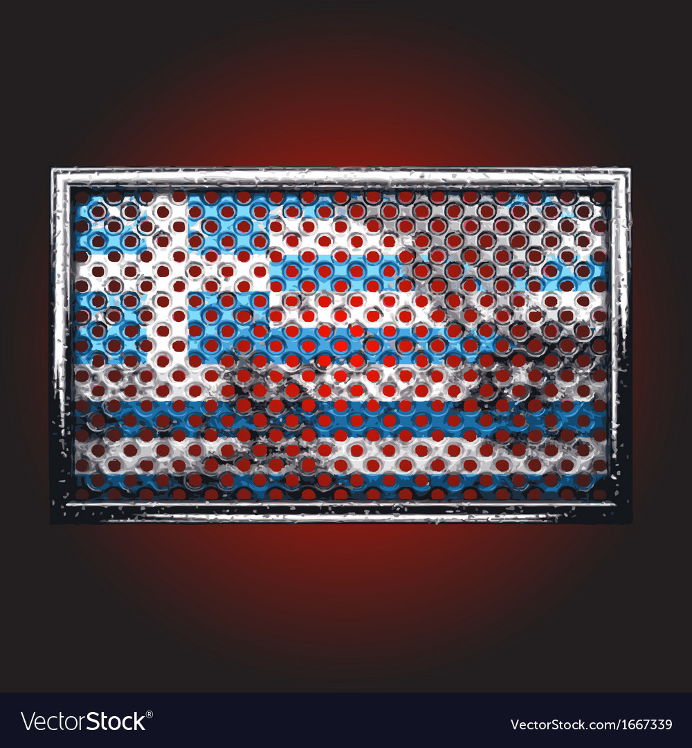 Flag on old metal vector | Price: 1 Credit (USD $1)