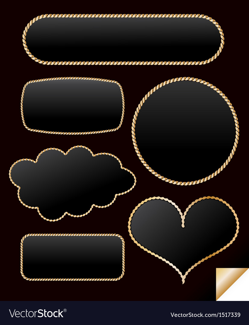 Golden frame from chain set vector | Price: 1 Credit (USD $1)
