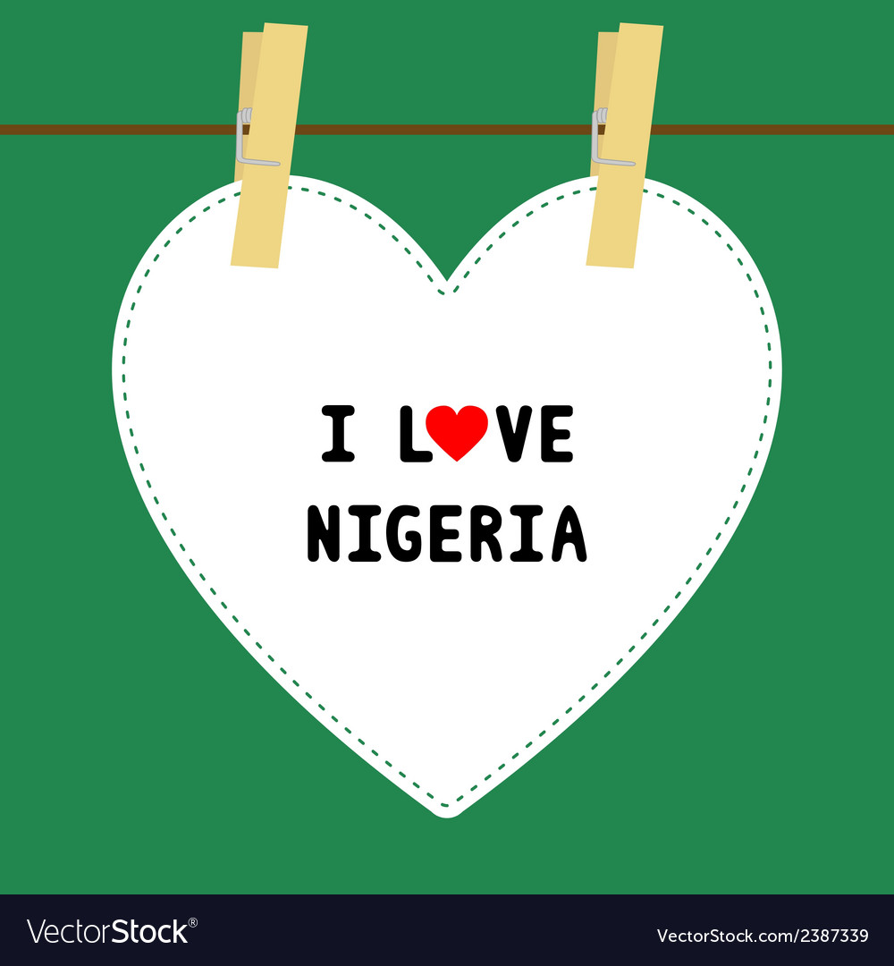 I love nigeria5 vector | Price: 1 Credit (USD $1)