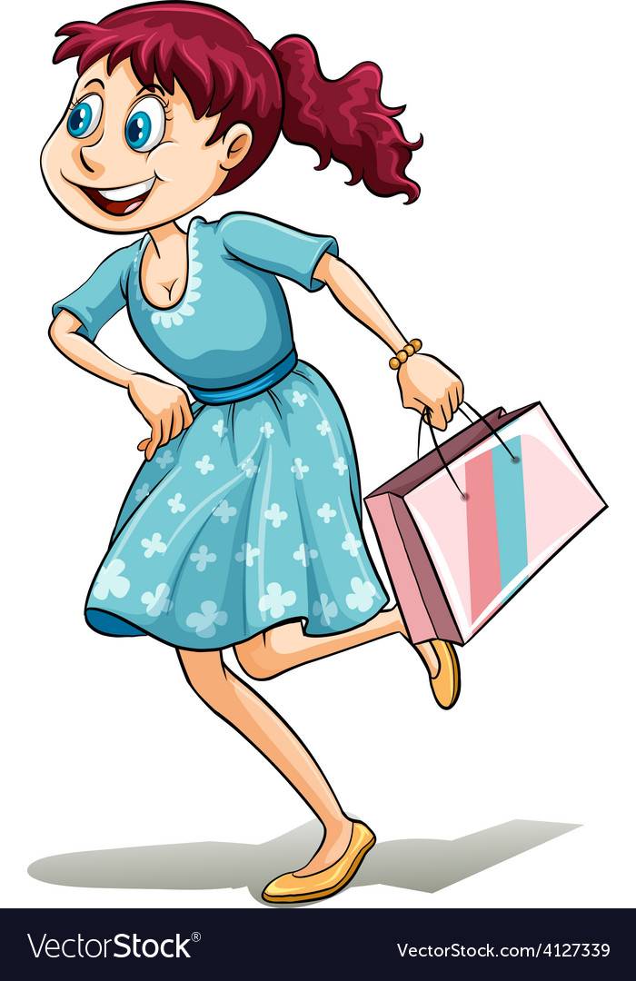 Lady with a shopping bag vector   Price: 3 Credit (USD $3)