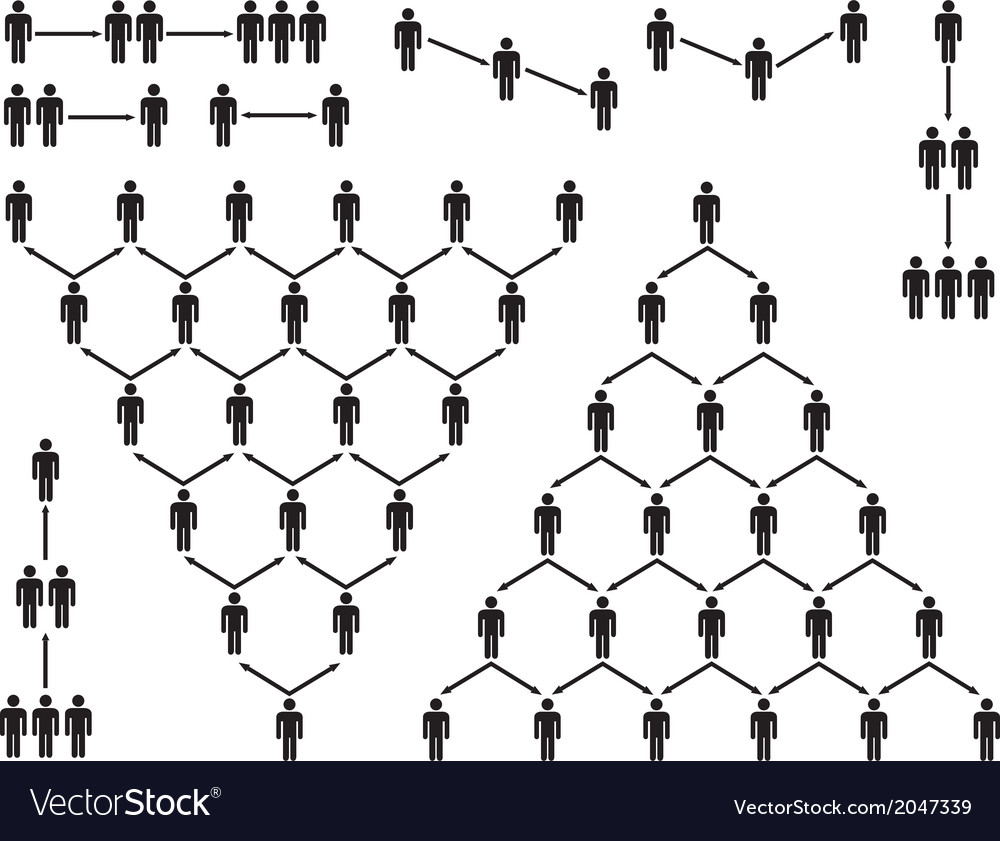 Pyramid people pictogram vector | Price: 1 Credit (USD $1)