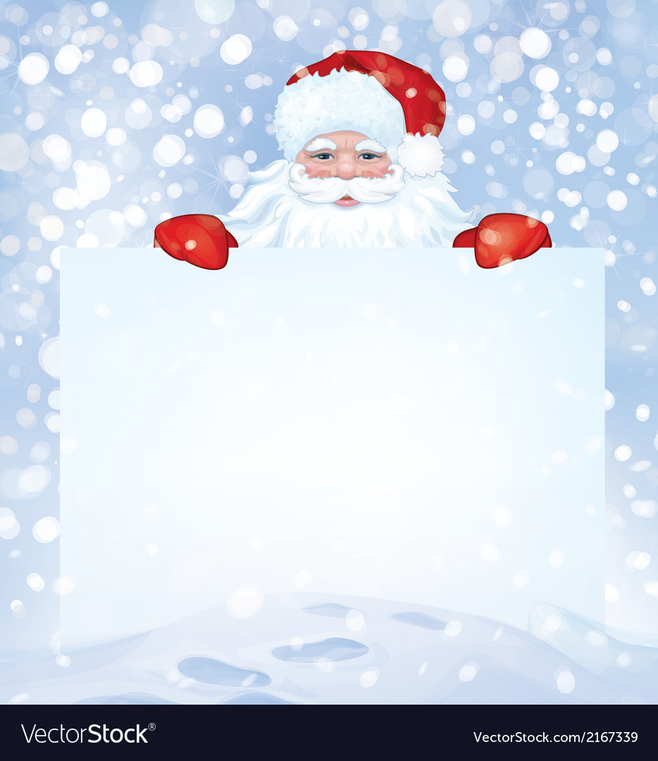 Santa snowfall vector | Price: 1 Credit (USD $1)