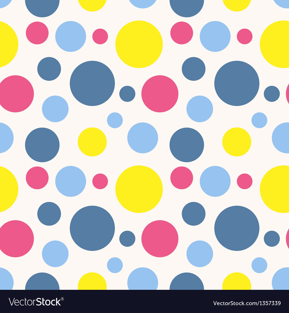 Seamless polka dot pattern in retro style vector | Price: 1 Credit (USD $1)