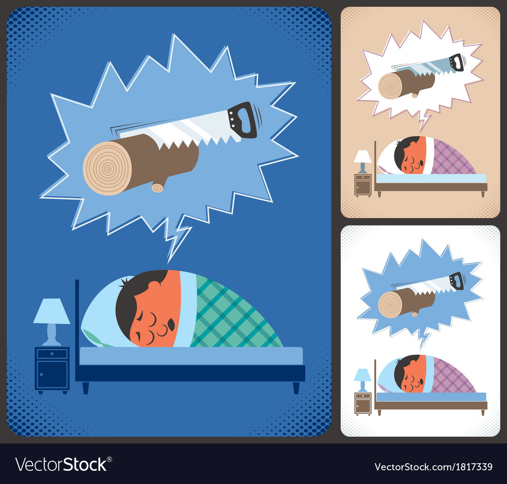 Snoring vector | Price: 1 Credit (USD $1)