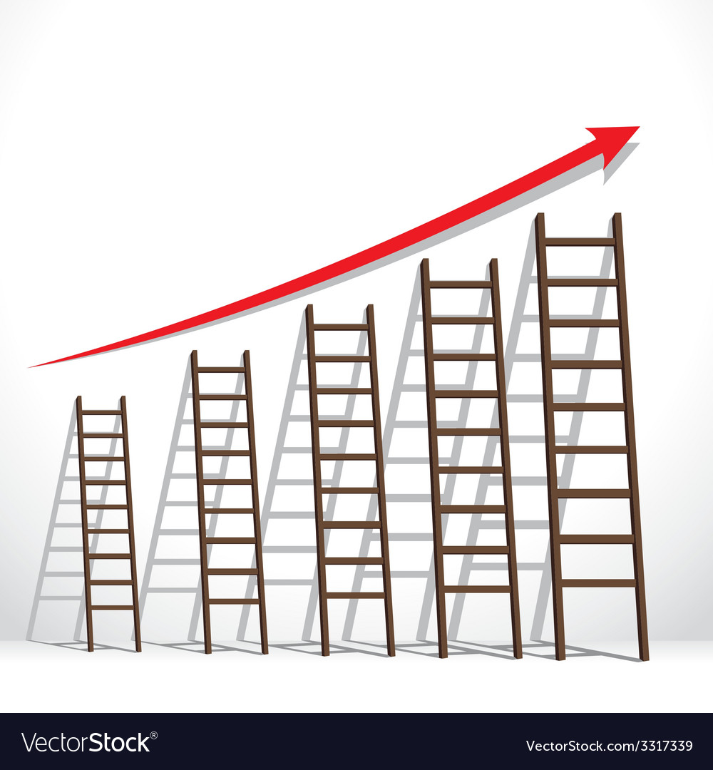 Stair arrange in increase market graph concept vector | Price: 1 Credit (USD $1)