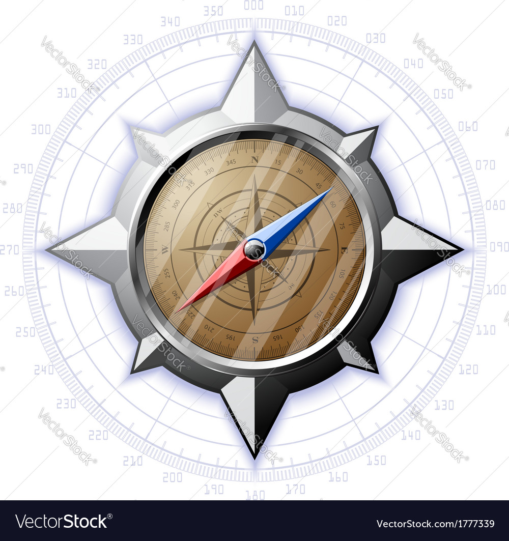 Steel compass with scale vector | Price: 1 Credit (USD $1)