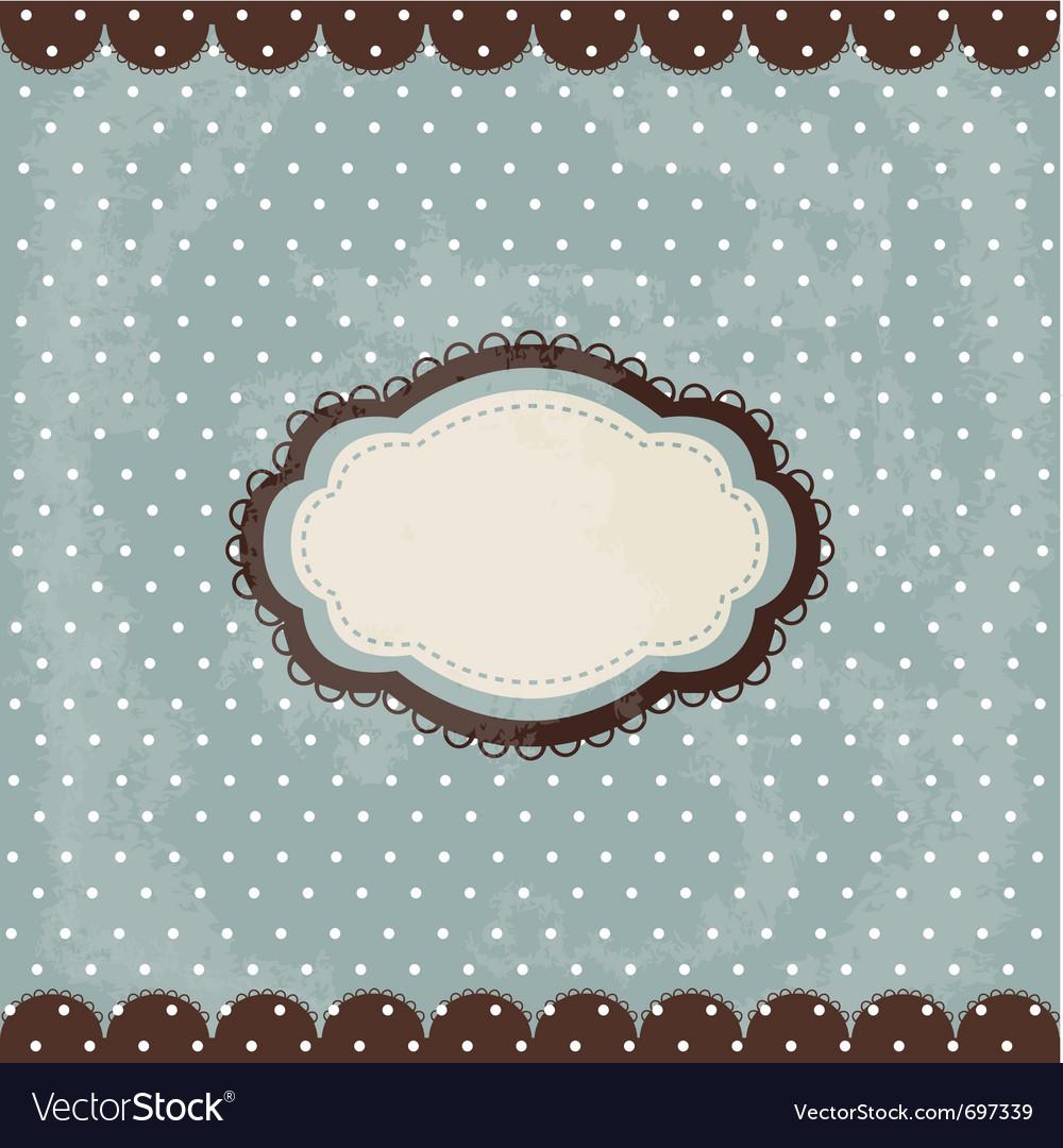 Vintage polka dot design vector | Price: 1 Credit (USD $1)