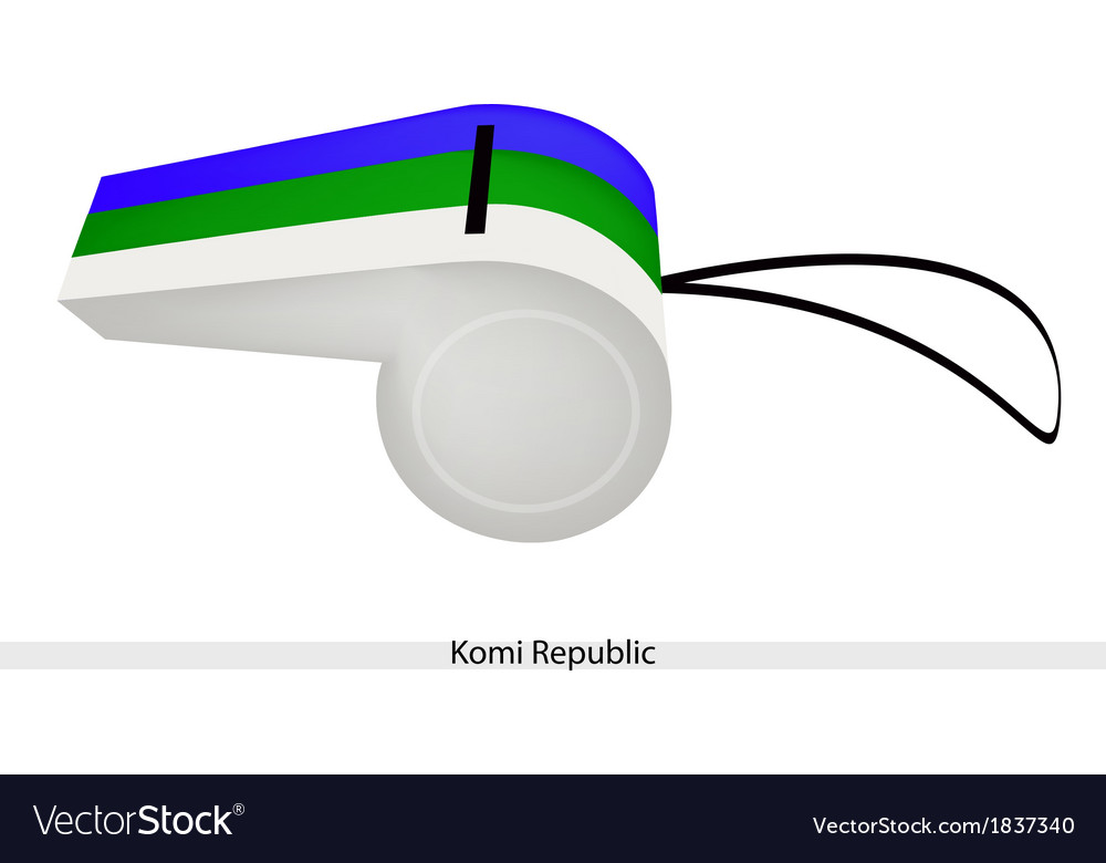 A beautiful whistle of the komi republic vector | Price: 1 Credit (USD $1)