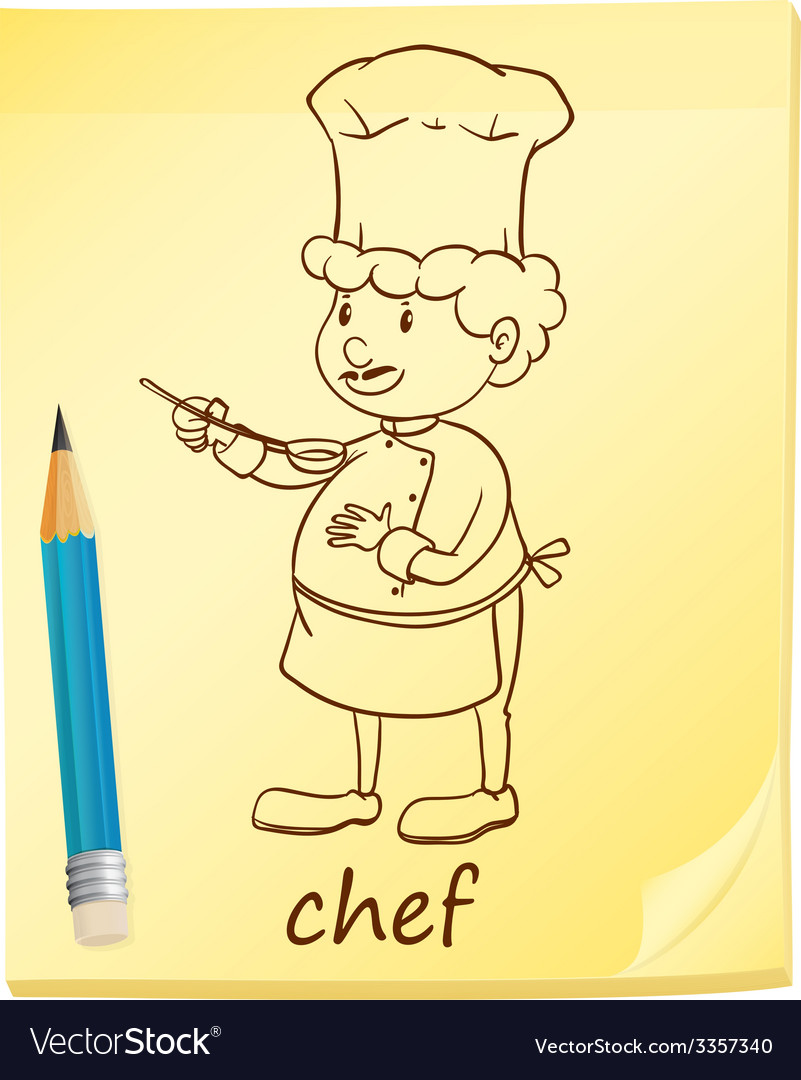 A notepad with a chef vector | Price: 1 Credit (USD $1)