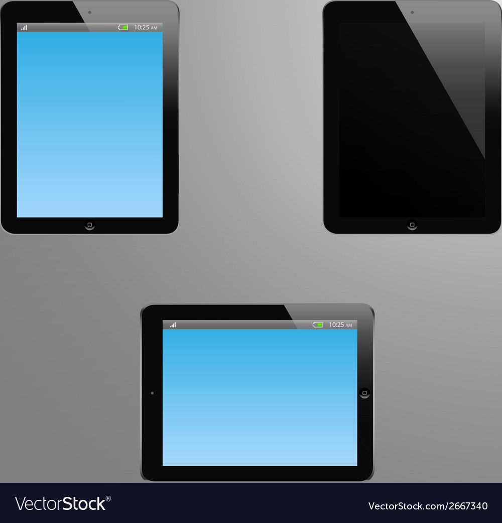 A tabled with editable screen vector | Price: 1 Credit (USD $1)