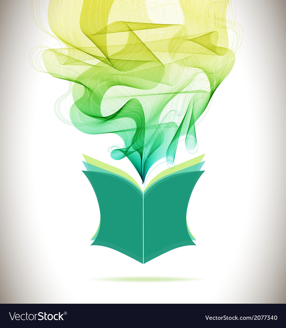 Abstract colorful background book icon and wave vector   Price: 1 Credit (USD $1)