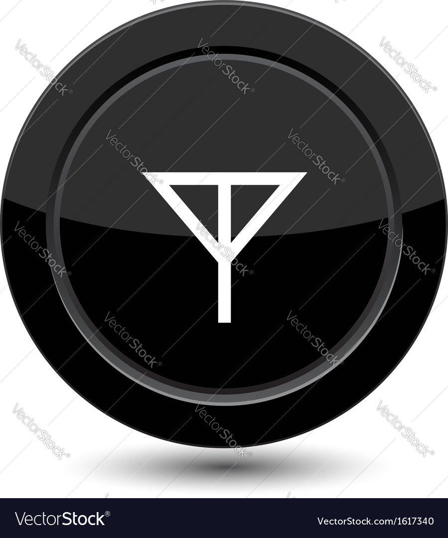 Button with antena sign vector | Price: 1 Credit (USD $1)