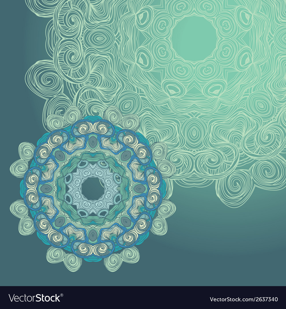 Circle lace hand-drawn ornament card vector   Price: 1 Credit (USD $1)