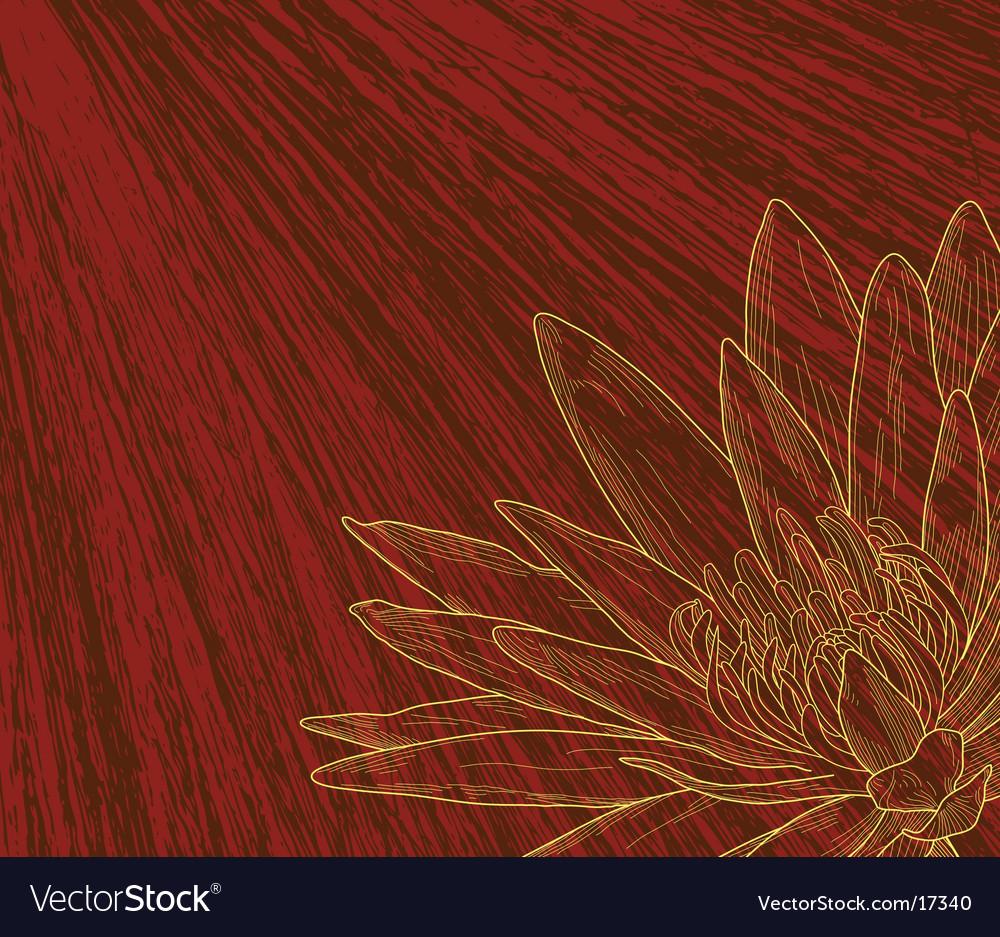 Flower sketch vector | Price: 1 Credit (USD $1)