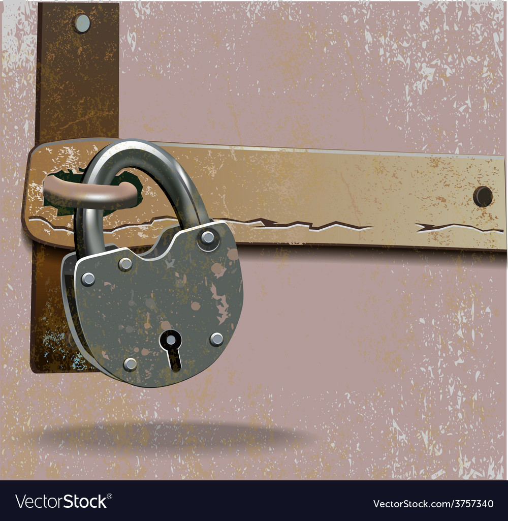Metal lock vector | Price: 3 Credit (USD $3)
