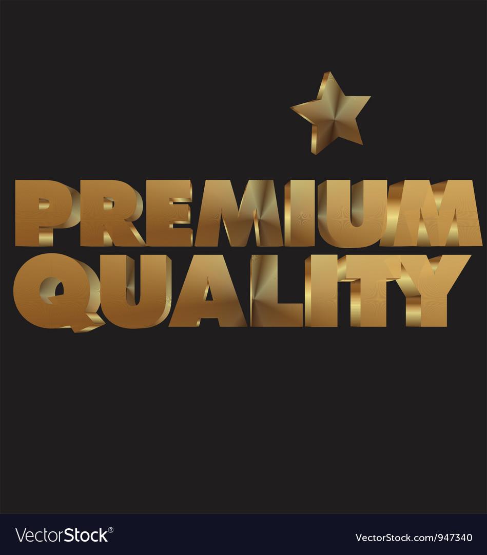 Premium quality 3d golden text vector | Price: 1 Credit (USD $1)