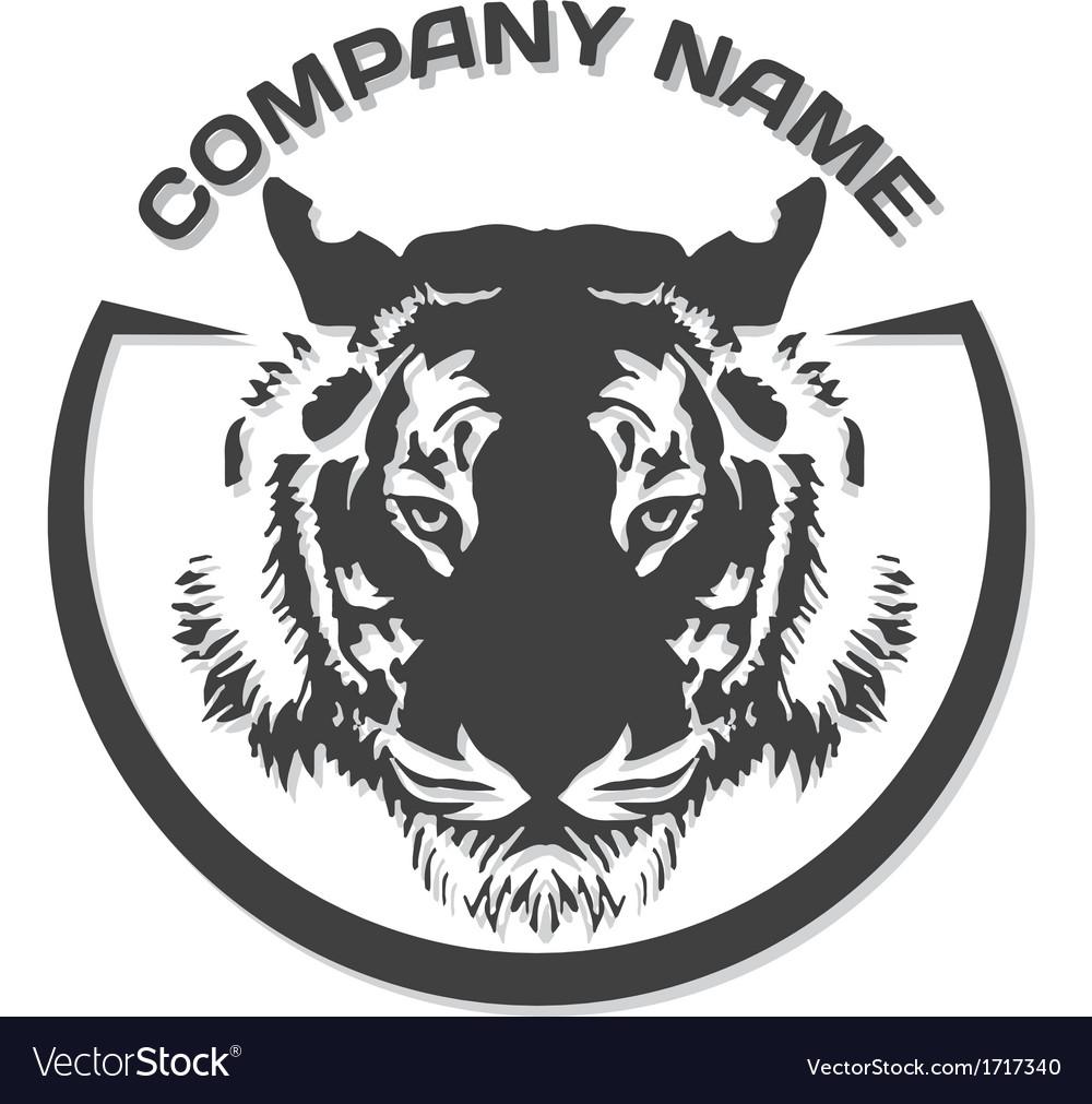 Tiger head silhouette vector | Price: 1 Credit (USD $1)