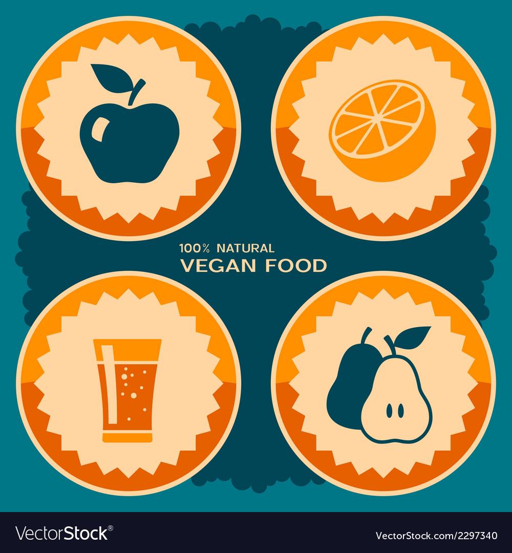 Vegan food poster design vector | Price: 1 Credit (USD $1)