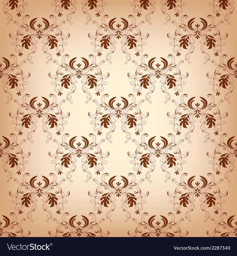 Vintage seamless with damask elements vector | Price: 1 Credit (USD $1)