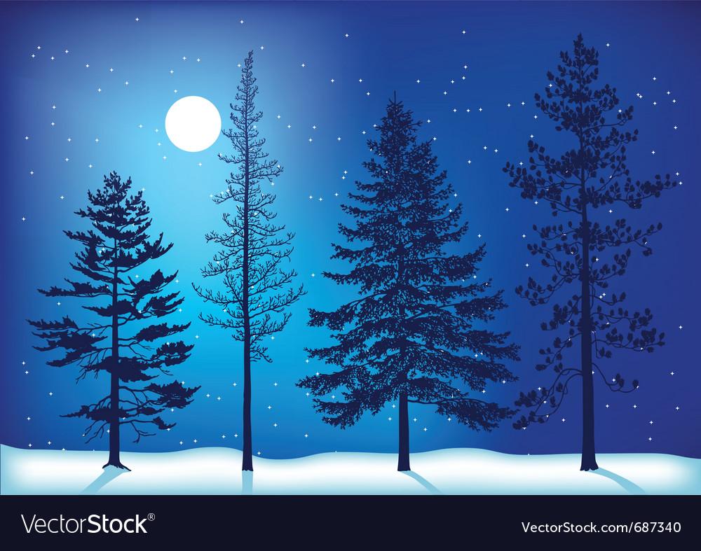 Winter trees vector   Price: 1 Credit (USD $1)
