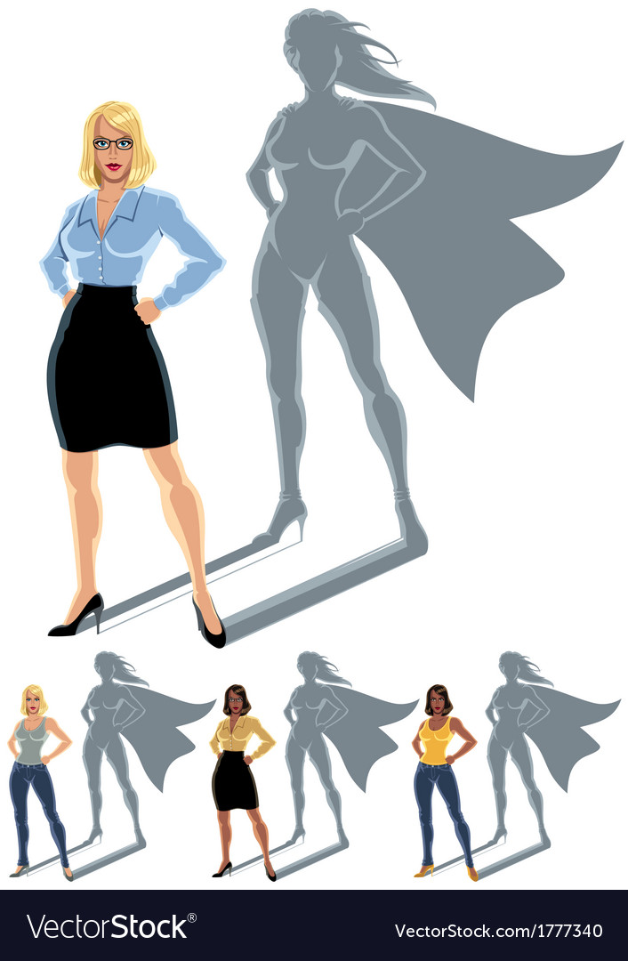 Woman superhero concept vector | Price: 1 Credit (USD $1)