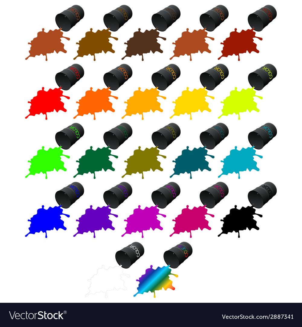 Barrels of colors vector | Price: 1 Credit (USD $1)