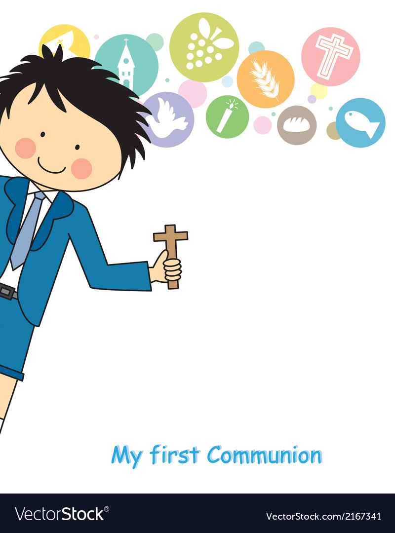 Boy first communion vector | Price: 1 Credit (USD $1)