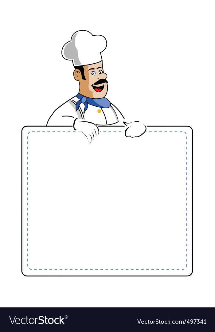 Chef holding cooking card vector | Price: 1 Credit (USD $1)