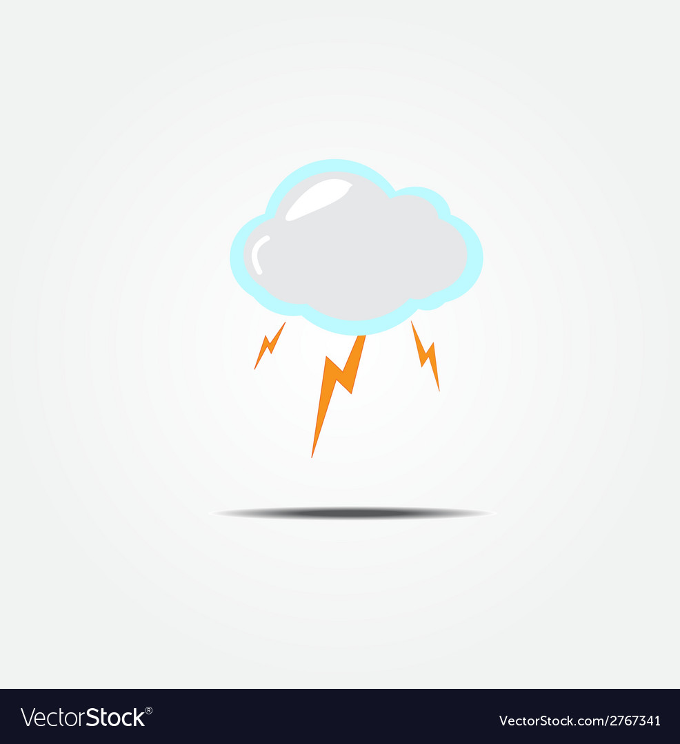 Cloud and lightning icon vector | Price: 1 Credit (USD $1)