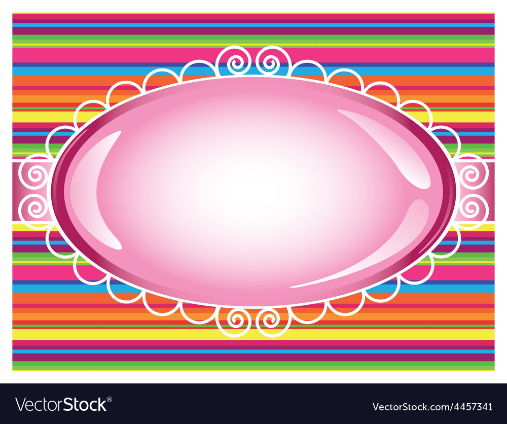 Colorful stripes background with sign vector | Price: 1 Credit (USD $1)