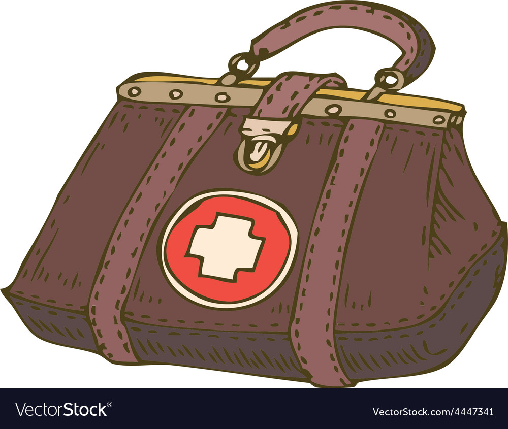 Doctor brown leather case vector | Price: 1 Credit (USD $1)