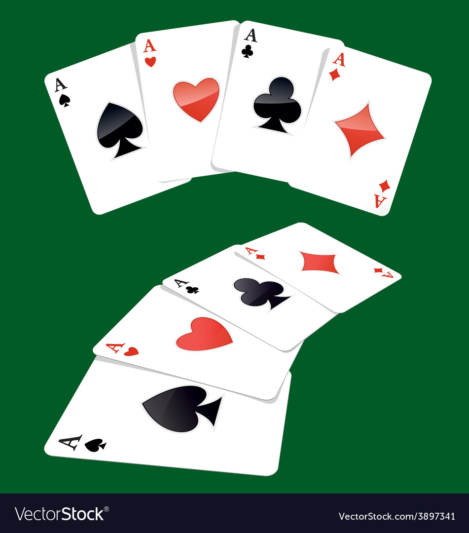 Four aces playing cards vector | Price: 1 Credit (USD $1)