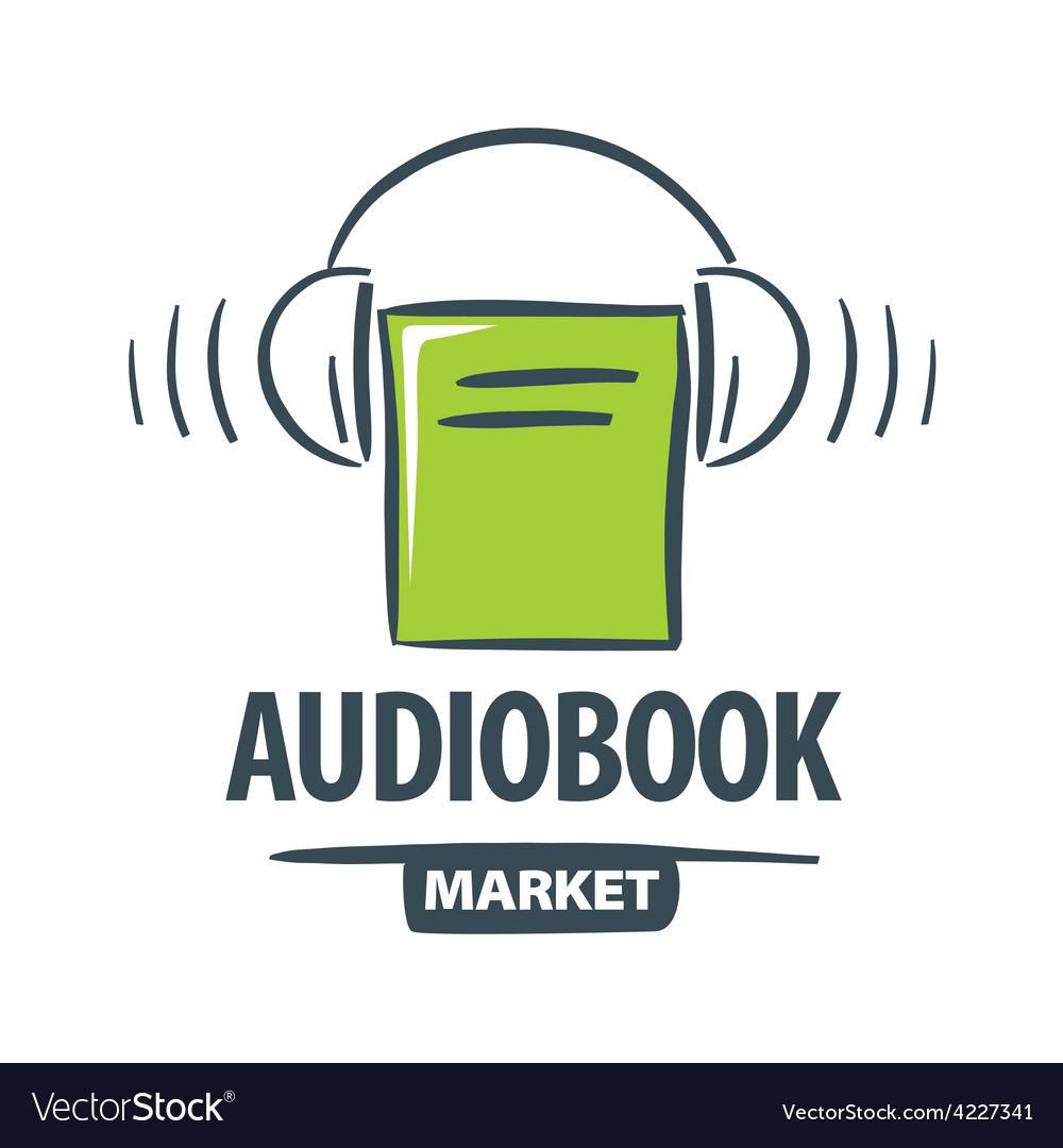 Logo green book with headphones vector | Price: 1 Credit (USD $1)