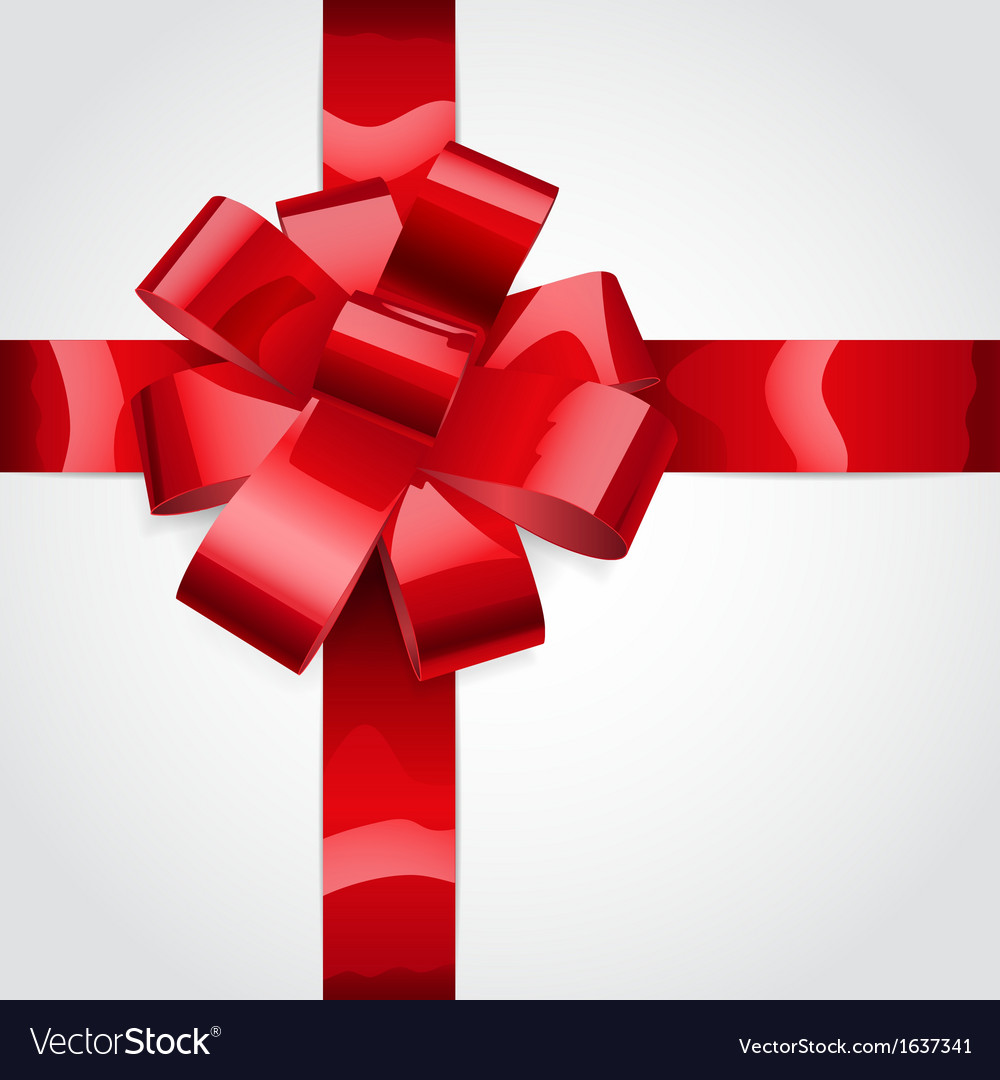 Red bow of ribbon vector | Price: 1 Credit (USD $1)