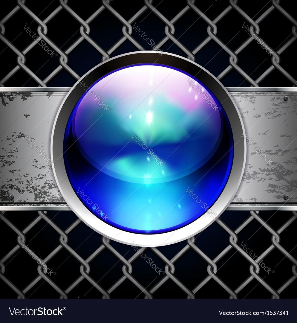 Techno glossy button background vector | Price: 1 Credit (USD $1)