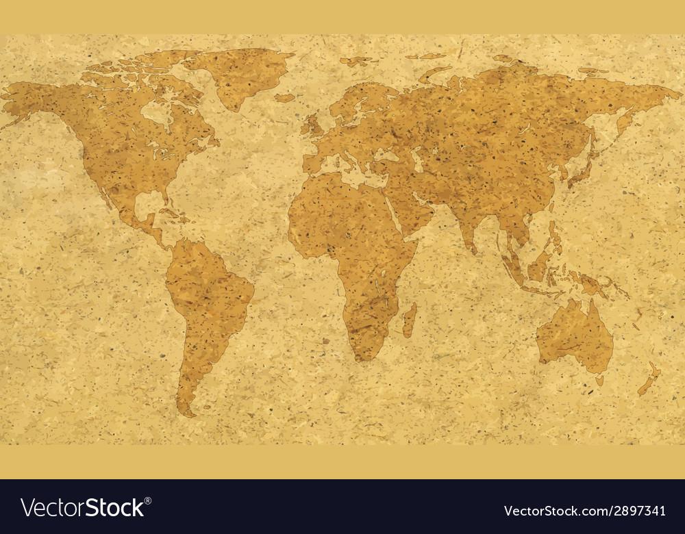 Textured world map vector | Price: 1 Credit (USD $1)