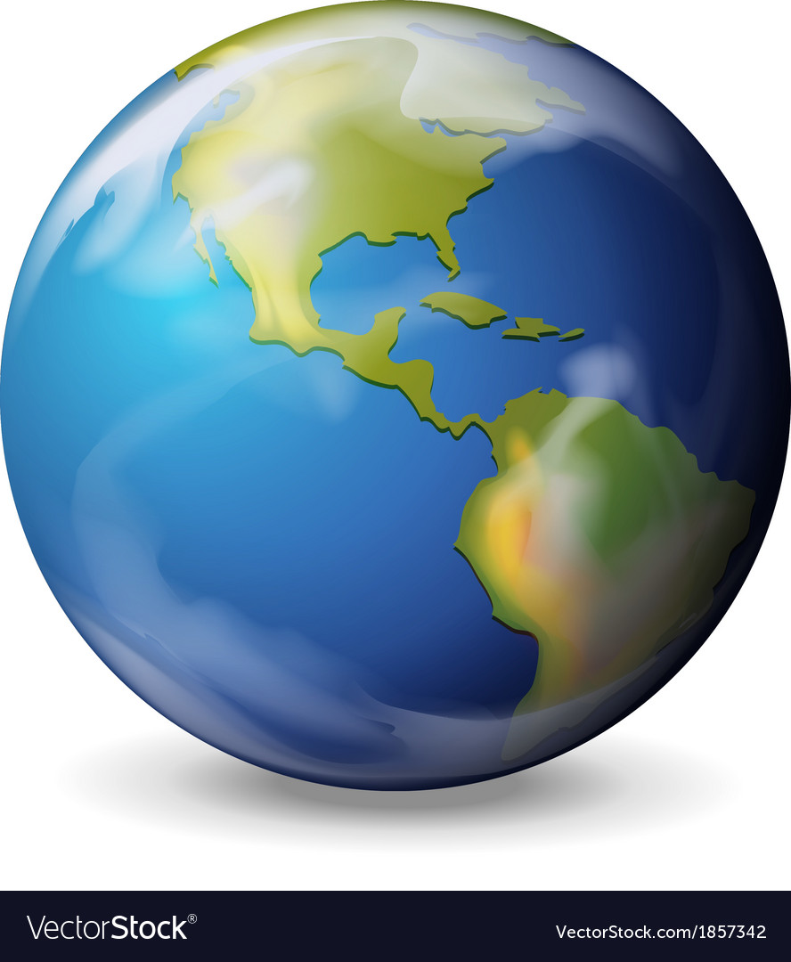 Blue marble - earth vector | Price: 1 Credit (USD $1)