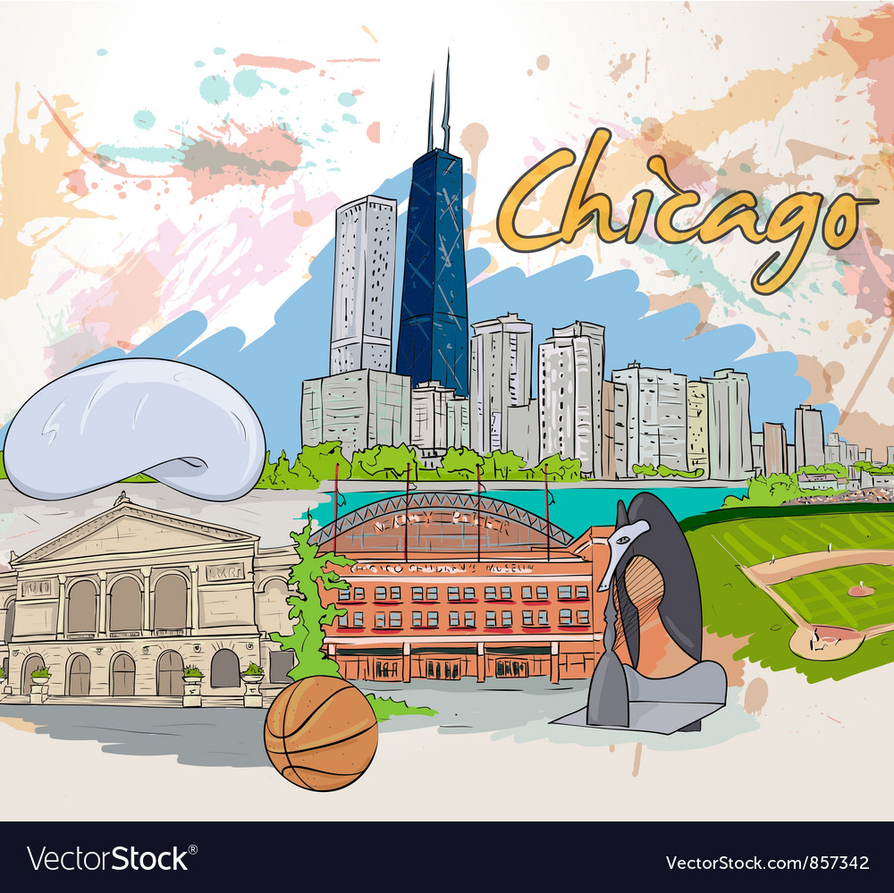 Chicago doodles vector | Price: 3 Credit (USD $3)