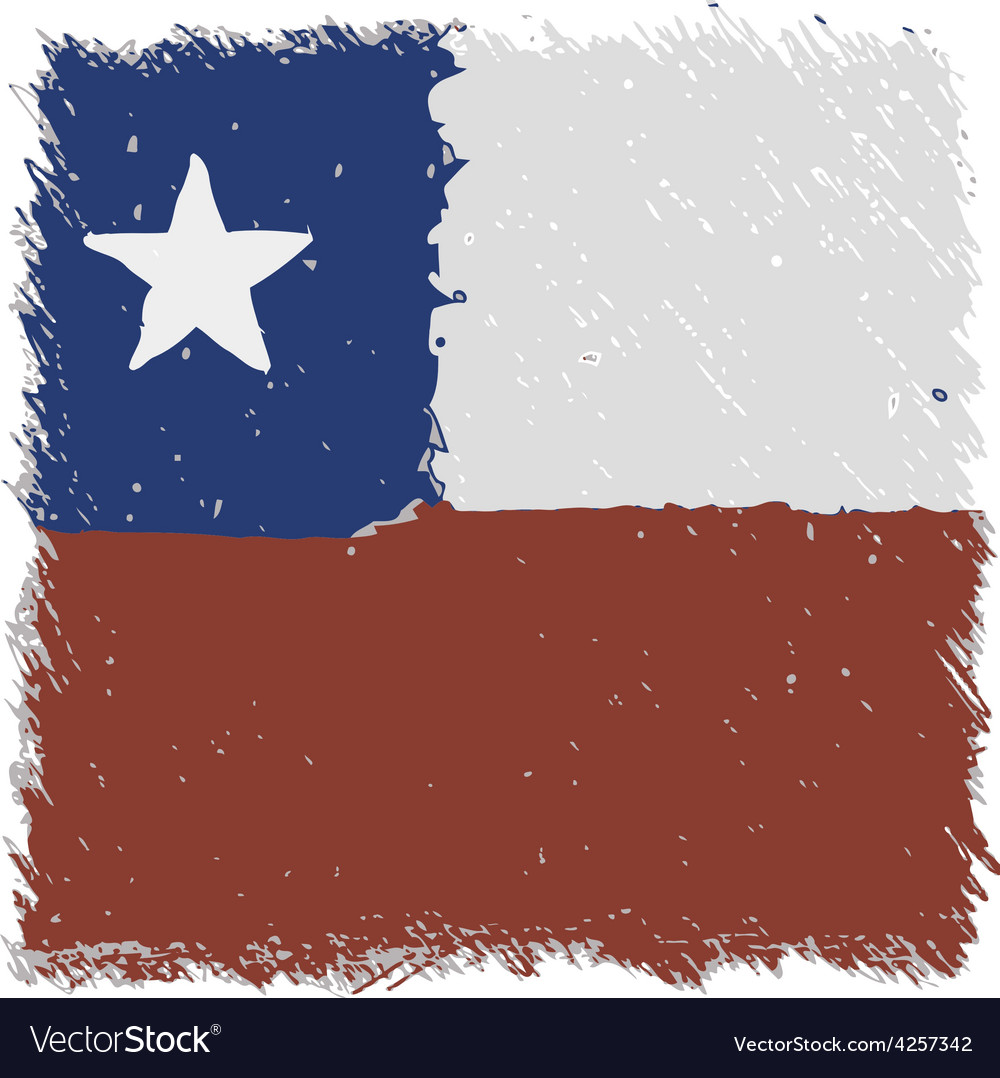 Flag of chile handmade square shape vector | Price: 1 Credit (USD $1)