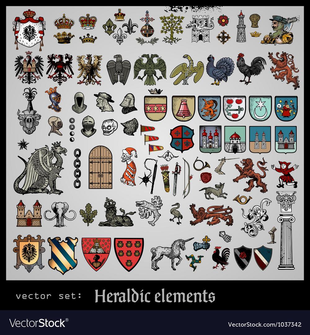 Heraldic elements vector | Price: 3 Credit (USD $3)