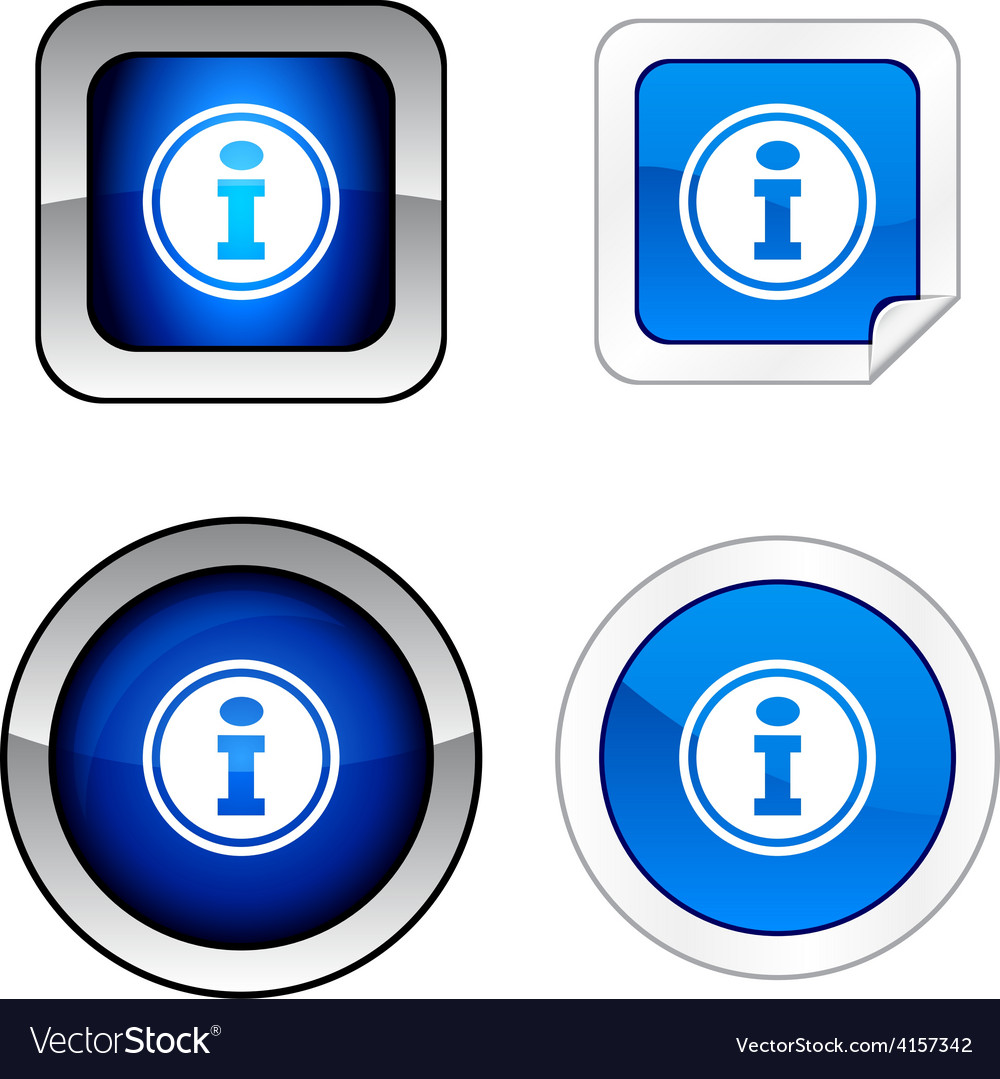 Info button set vector | Price: 1 Credit (USD $1)