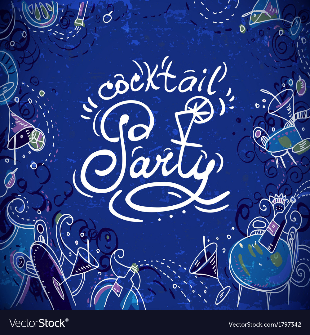Invitation card to cocktail party vector | Price: 1 Credit (USD $1)