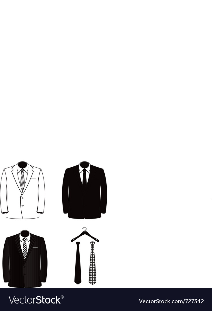 Suit coats one color vector | Price: 1 Credit (USD $1)