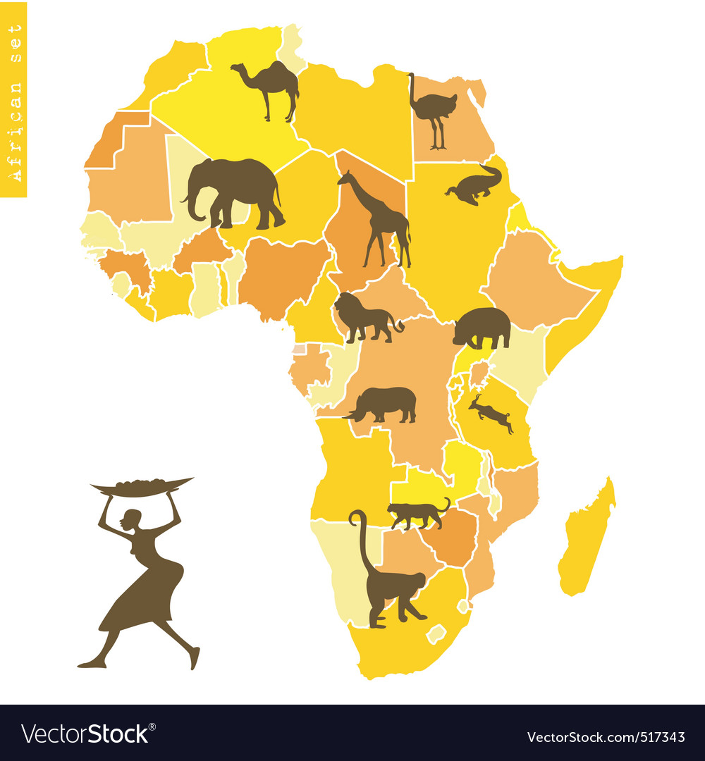 African set vector | Price: 1 Credit (USD $1)