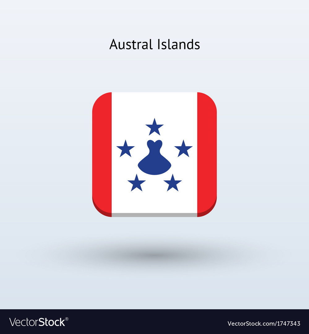 Austral islands flag icon vector | Price: 1 Credit (USD $1)